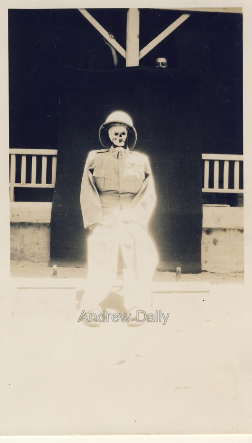 a macabre portrait  british army in india 1930s